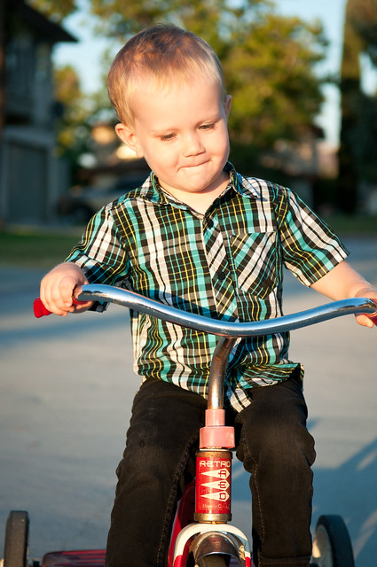 Elliott and his tricycle