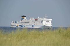 TT Line (ThomasKohler) Tags: blue sea summer sky ferry germany boot boat warnemünde meer ship sommer himmel baltic line tt blau ostsee schiff rostock fähre düne mecklenburg duene warnemuende faehre hro dünengras duenengras