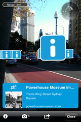King Street on Augmented Reality browsing of Powerhouse Museum around Sydney