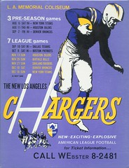 1960 Los Angeles Chargers Ticket Placard