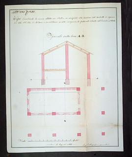 Progetto di rifacimento della stalla dell'ingegnere Lorenzo Carmagnola, 6 agosto 1848