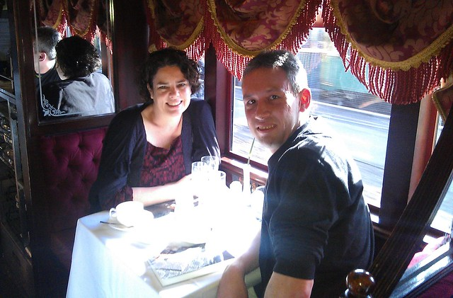 Daniel and Marita on the Restaurant Tram