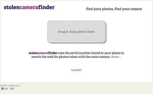 Web Stolencamerafinder