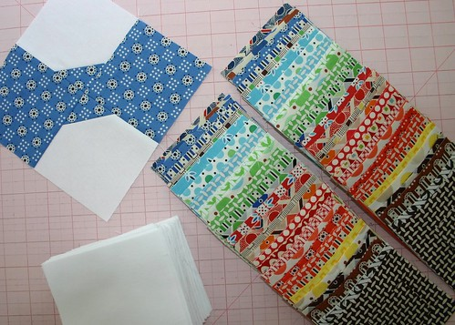 Bowtie Quilts - fabrics cut
