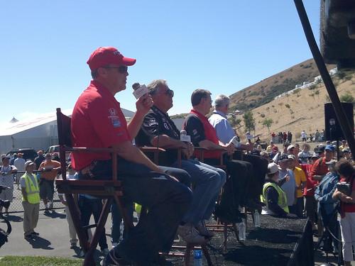 Al Unser Jr, Mario Andretti & Johnny Rutherford