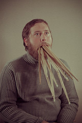 Drumsticks (WOLF CHOIR) Tags: corporate headshot drummer turtleneck studioportrait glamorous thousands starving corporateheadshots wolfchoir robbieaugspurger heatwarmer glamourandheadshots paganskins hungryfordrums