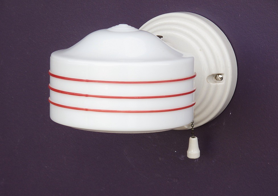Vintage red kitchen fixture | VintageLights.com