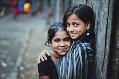 A beautiful life. (A. adnan) Tags: poverty street portrait girl beautiful smile smiling nikon friend colours dof bokeh poor dhaka bangladesh slum bestfriends bff bangladeshi nikkor50mmf14d mohakhali bangladeshiphotographer d7000 peopleofbangladesh aadnan613