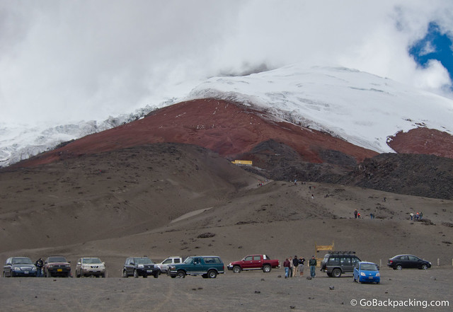 Parking lot at Cotopaxi Volcano