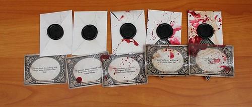 Halloween Horror Nights teaser cards