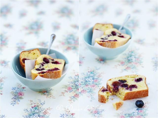 Cake à la ricotta, myrtilles et citron