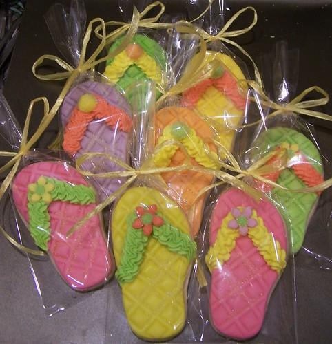 flip flop cookies by Debs Cookies