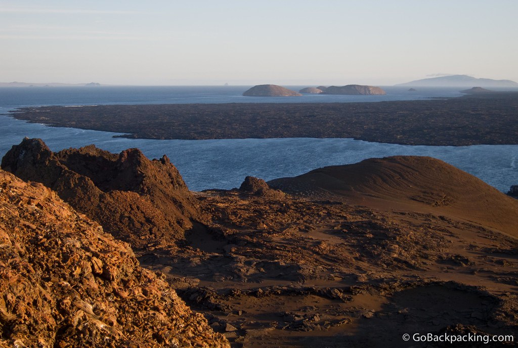Sunset over Bartolome Island in the Galapagos