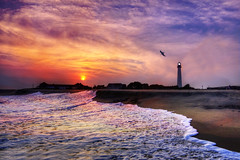 Soul Searching (Moniza*) Tags: ocean sunset sea lighthouse seascape beach sunrise landscape newjersey nikon searchthebest nj explore shore jersey capemay jerseyshore d90 explored moniza landscapeexhibition photographerschoice~halloffame