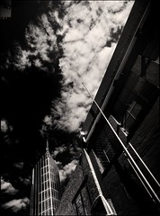 sixty eight degrees (mugley) Tags: city urban blackandwhite bw tower 120 mamiya film lines architecture modern clouds rollei skyscraper buildings mediumformat prime 645 industrial cityscape shadows bricks angles australia melbourne wideangle victoria scan lookup negative epson cbd walls mast 6x45 r3 antenna cloudporn warehouses mamiya645 franklinst urbanlandscape redfilter kishokurokawa polariser blacksky 25a v700 cloudage mamiya645protl melbournecentraltower m645 rolleir3 crystalcut 35mmf35sekorn