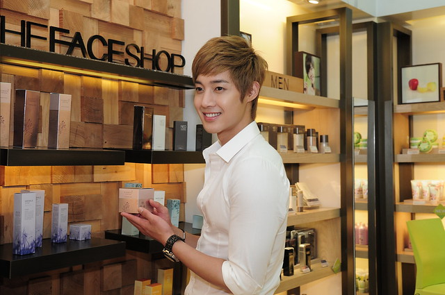 KHJ holding Flebote Cleansing Cream, age defying skin care line