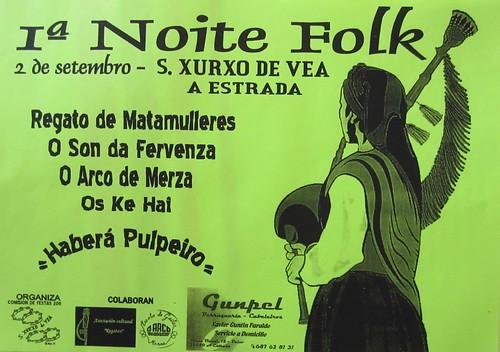 A Estrada 2011 - 1ª Noite Folk San Xurxo de Vea - cartel