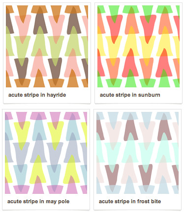 Acute Stripe in four colorways