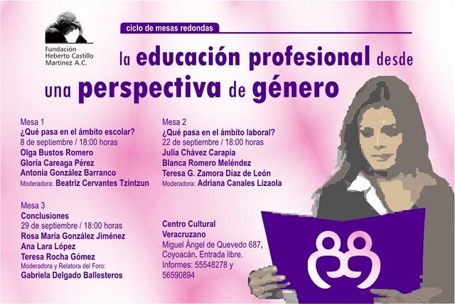 """""""La educación profesional desde una perspectiva de género""""."""