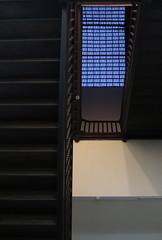 The Pstairs | Escadap (Andre Carregal) Tags: wood blue light white luz window glass vidro azul wall stair steps perspective janela perspectiva escada partition madeira parede branca rectangles degraus sooc retngulos partio
