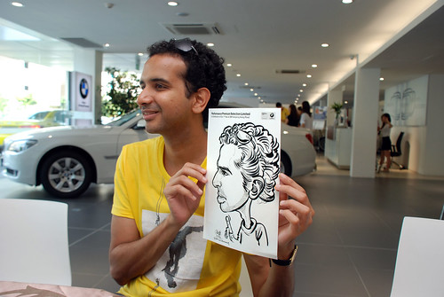 Caricature live sketching for Performance Premium Selection first year anniversary - day 2 - 16