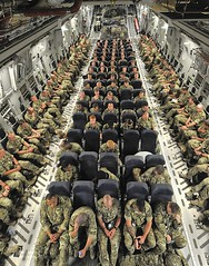 UK Troops Onboard a C17 Transport Aircraft in Transit to Afghanistan (Defence Images) Tags: uk afghanistan army aircraft military transport equipment soldiers british op c17 globemaster operation bastion campaign defense troops defence raf afganistan personnel herrick royalairforce helmand c17a 99sqn