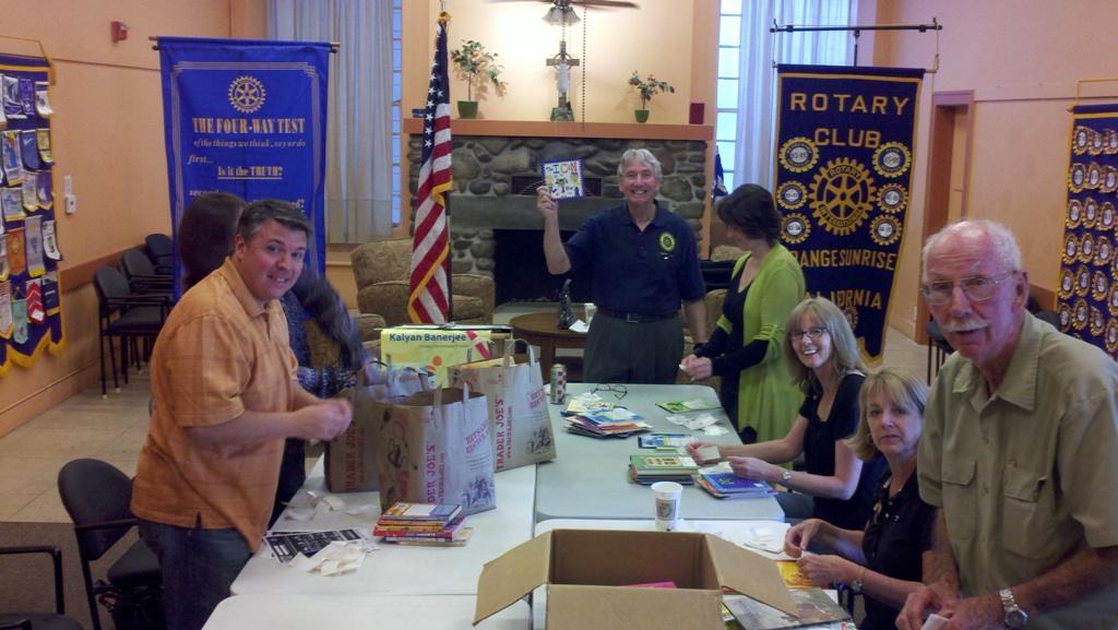 Preparing books for the fair
