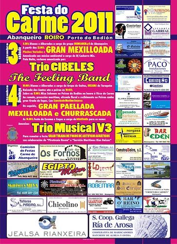 Boiro 2011 - Festas do Carme no porto de Bodión - Abanqueiro - cartel