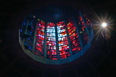 Looking into Light (Chris Willis 10) Tags: light simon liverpool reflections shadows cathedral stainedglass ceiling sait simonsait