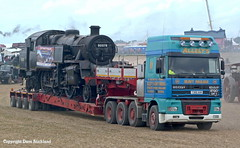 Allely's DAF 95XF hauling Swanage Railways preserved BR Standard Class 4MT Steam ta