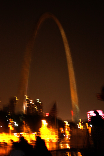 Arch-at-night