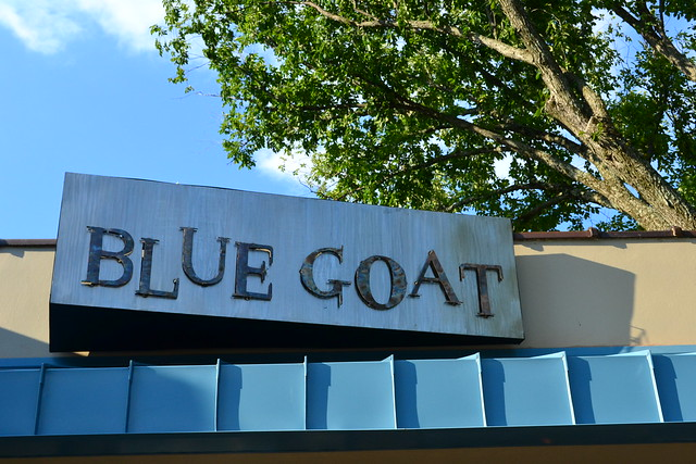 Blue Goat Sign