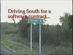 VHS Drive to MS 1997 Part 02 Video (CanadaGood) Tags: usa america missouri mo sign highway traffic church truck gasstation video analog 1997 color colour vhs camcorder vhstapecapture building vehicle canadagood nineties text