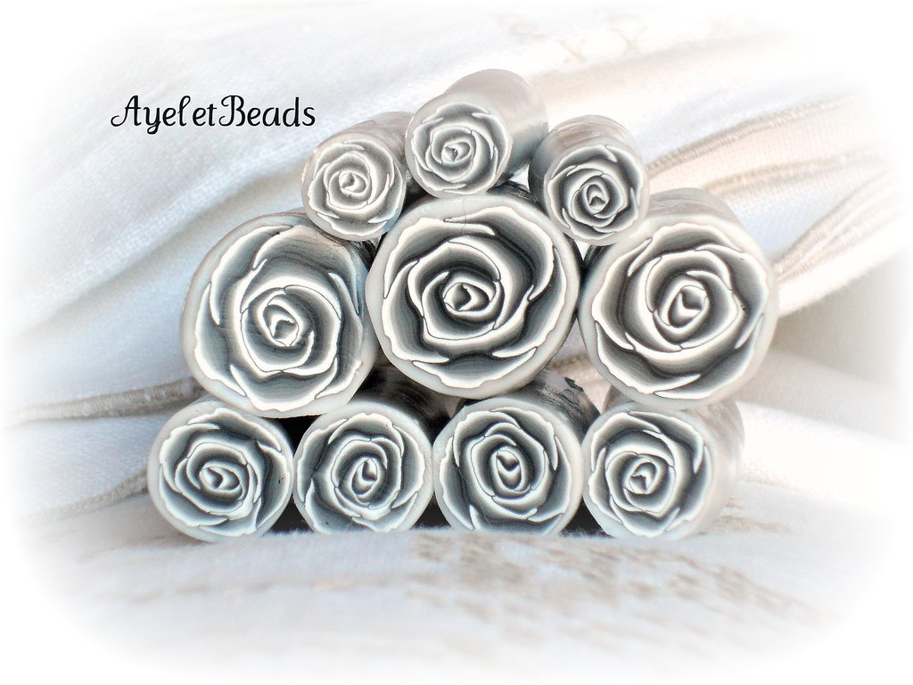 Black and White rose cane