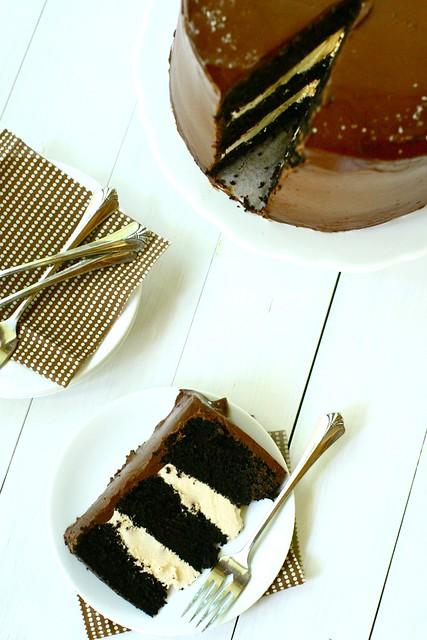 Dark Chocolate Salted Caramel Layer Cake | Annie's Eats