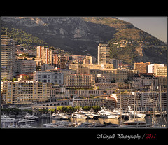 The last rays on Montecarlo - HDR (Margall photography) Tags: sunset sun skyline last port photography harbor boat tramonto cityscape montecarlo marco rays hdr galletto margall