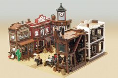 town overview (Marshal Banana) Tags: street city town lego western historical wildwest diorama