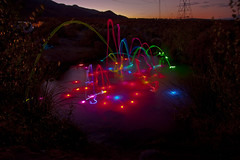 Glow stick fun (Four Straites) Tags: light dark glow desert september reagan wilson bishop hotsprings glowsticks hotpools hotpool 2011 keough flashpaint