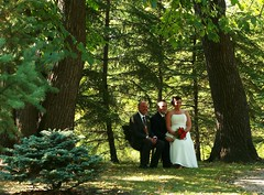 Outdoor Wedding (Cindy's Here) Tags: park trees wedding canada canon bride outdoor manitoba portagelaprairie ourdailychallenge