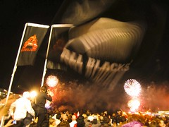 Go All Blacks!! (Susana Fabian) Tags: newzealand fire rugby auckland allblacks aotearoa openingnight rwc2011