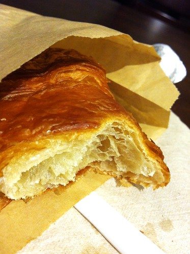 starbucks croissant chewed