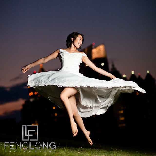 Jumping Bride! | Alice's Bridal Portrait Glamour Session | Piedmont Park | Atlanta Wedding Photographer