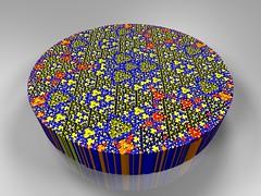 Apollonian Gasket Pie (fdecomite) Tags: circle geometry packing math fractal gasket descartes povray tangent imagej tangency apollonian apollonius