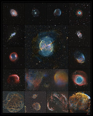 Many ways to die (J-P Metsavainio) Tags: planetarynebula supernovaremnant