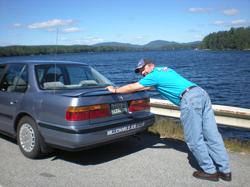 Joking Joe: Pushing his Honda Accord