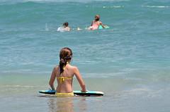 watching (Laurarama) Tags: ocean summer vacation beach swimming children nikon surf florida boogieboard 2011 105mm25ai d7000