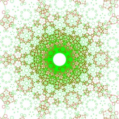 Circle Inverted Apollonian Gasket (fdecomite) Tags: circle packing math gasket descartes povray tangent imagej tangency apollonian apollonius