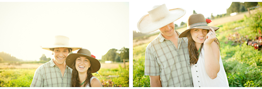 Sauvie Island Farm Engagement Photographs