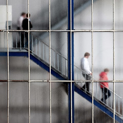 """after lunch"" (helmet13) Tags: people urban blur stairs office raw surreal lunchtime staircase simplicity persons lunchroom lattice studies frostedglass aoi 100faves peaceaward world100f d300s saariysqualitypictures worldpeacehalloffame platinpeaceaward"