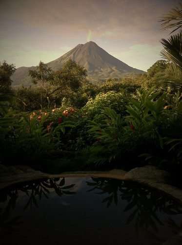 Costa Rica 2011: 6AM, Smoking Arenal by Sanctuary-Studio